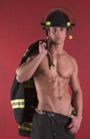 gay muscle fireman cop blonde