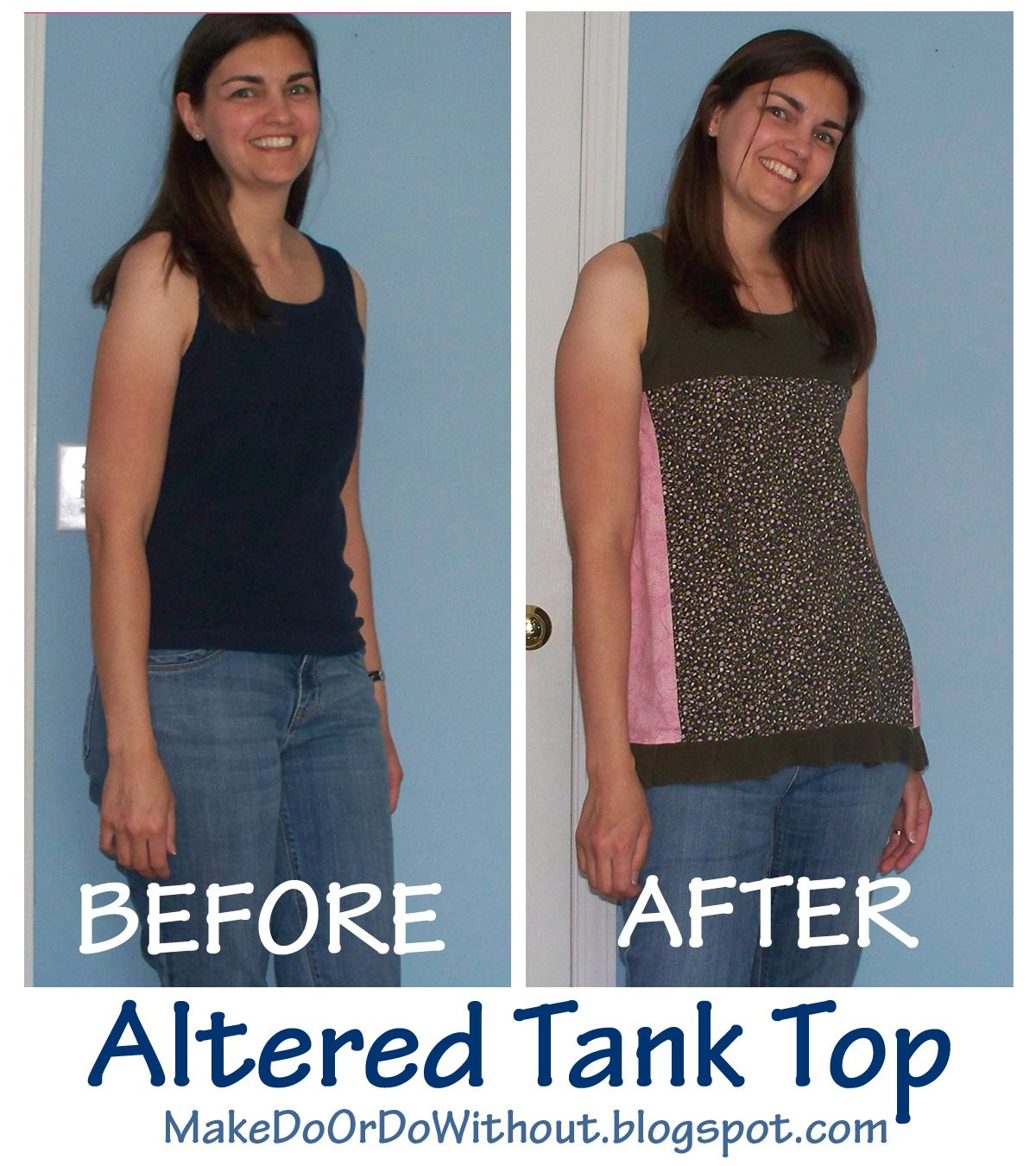 Make Do: Altered Tank Top for Summer, with step by step pics/tutorial