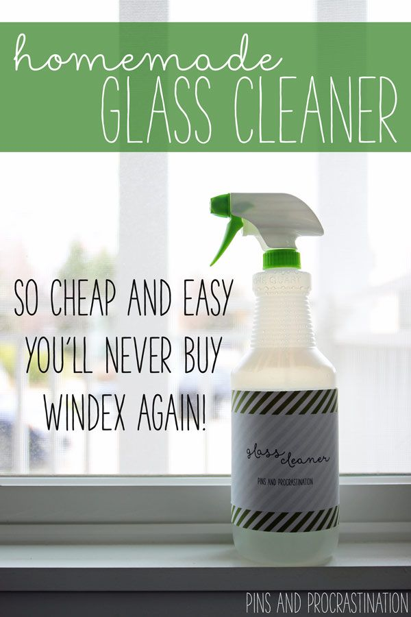 Best Weekly Cleaning Schedule Homemade Glass Cleaner Cleaners