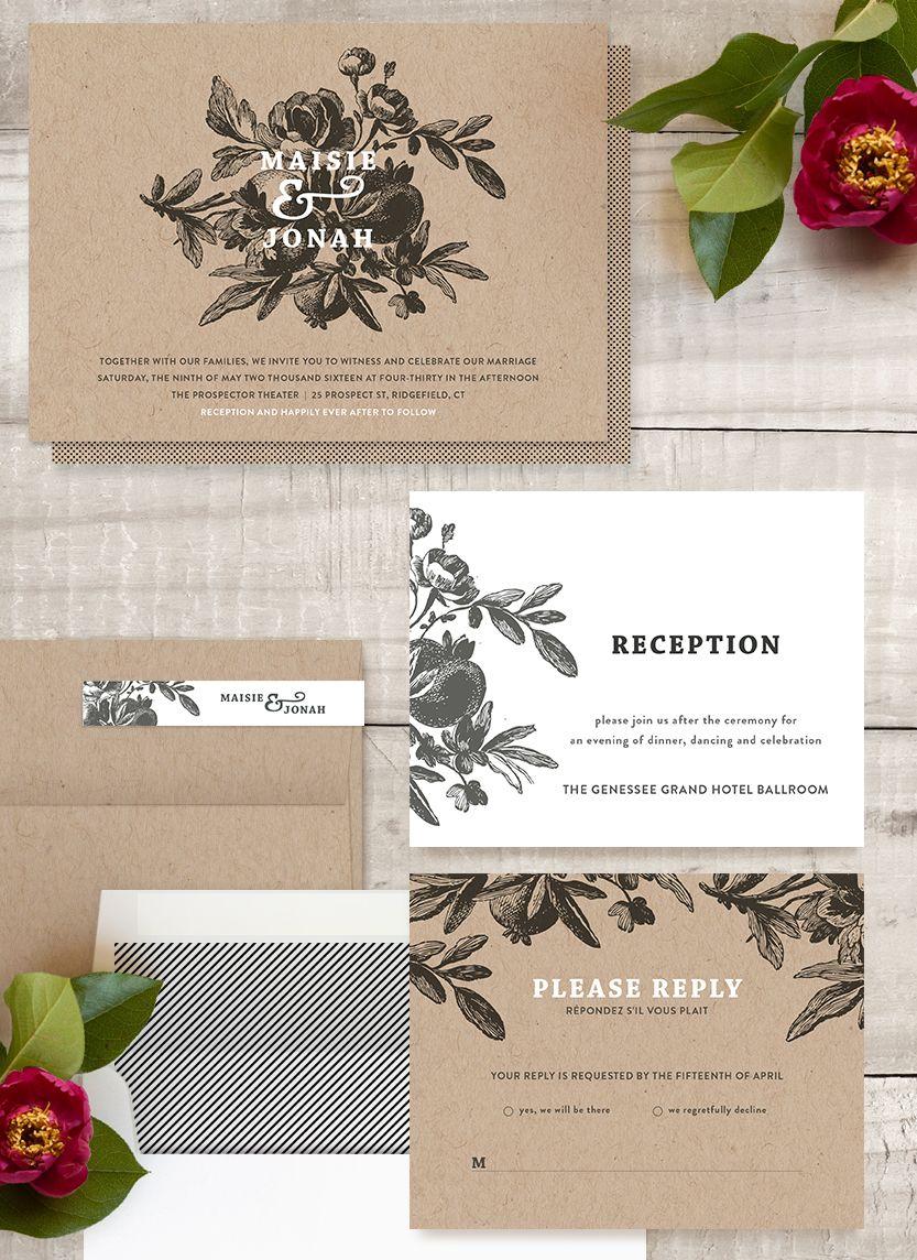 Love in bloom wedding invitation by r studio minted wedding