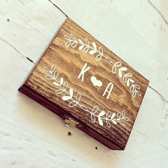 Rustic Ring Box His and Hers Ring Box Wood by DownInTheBoondocks, $25.00