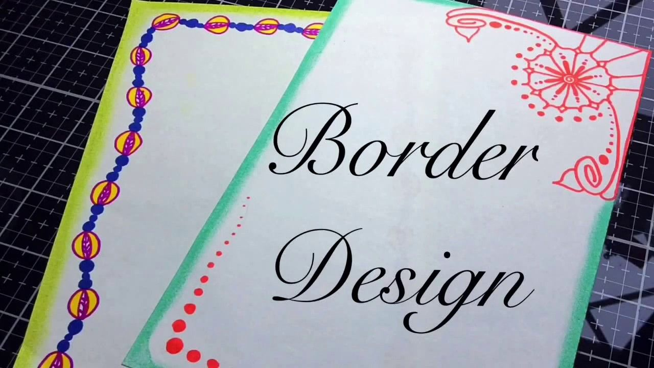 Border Designs On Paper Project File Front Page Youtube