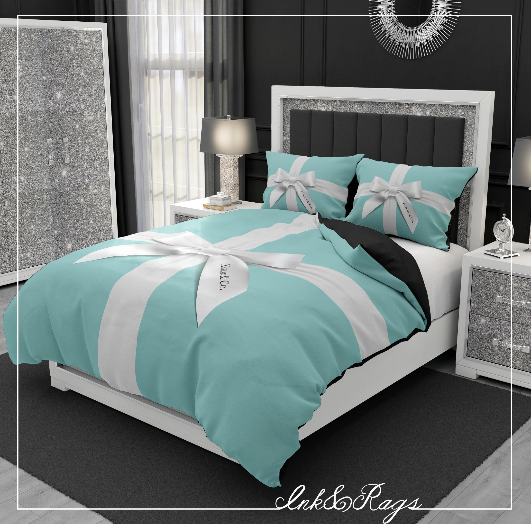 Name & Co Personalized Fashion Bedding | Tiffany Theme ...