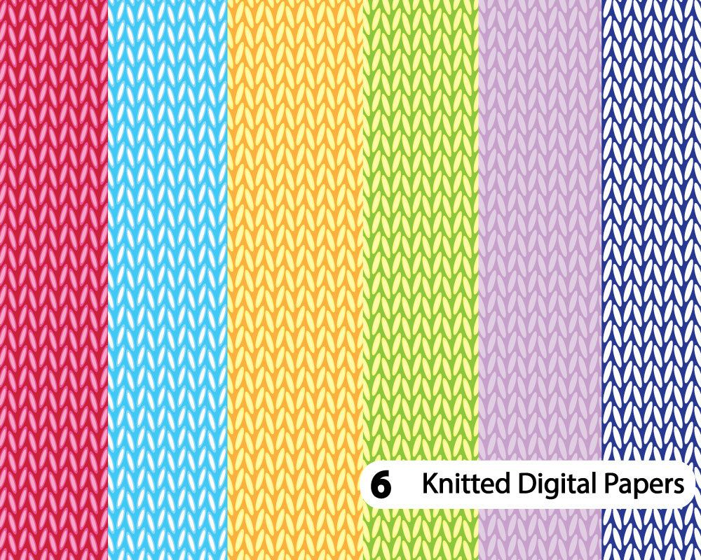 Knitting Pattern Wallpaper : Knit digital paper knitting pattern crochet
