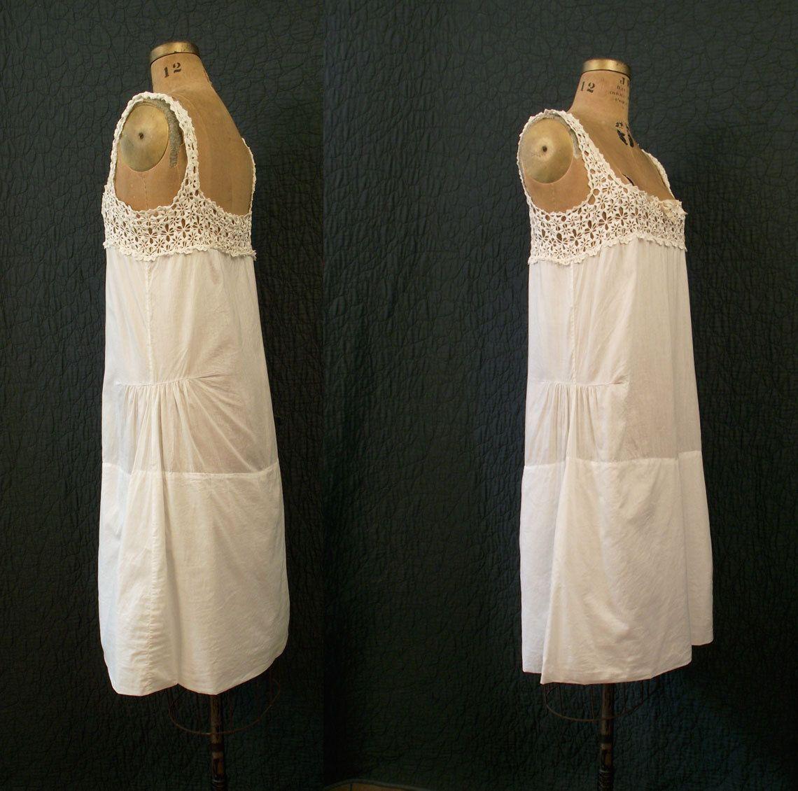 20s Crochet nightgown