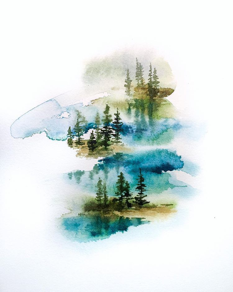 Wheresthewoods Watercolor Art Art Forest Painting