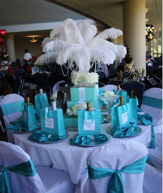 Tiffany Blue Wedding Decoration Ideas: Breakfast At TIffany's Party In 2019