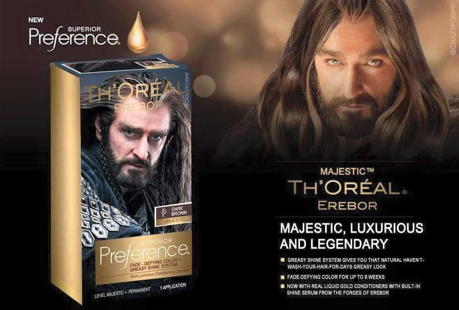 We all want luxurious hair like Thorin! #TheHobbit