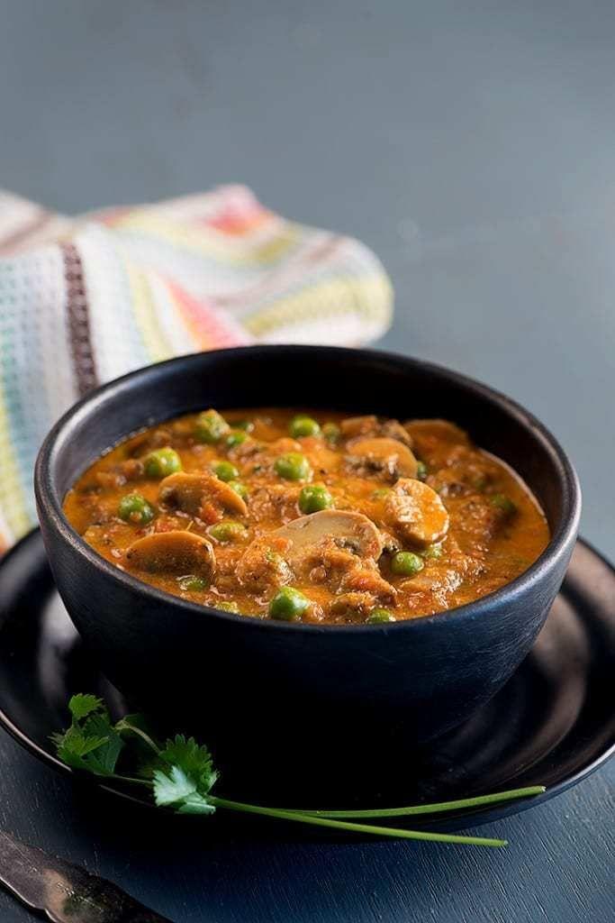 Matar mushroom curry recipe mushroom curry curry and mushrooms dishes matar mushroom curry recipe everyday indian food forumfinder Images