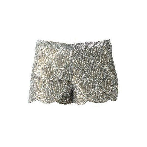 Basix Black Label Sequined Shorts~ Love Mine! Will Prob