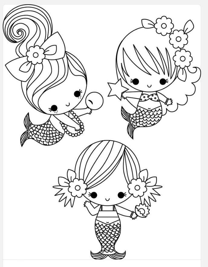 Pin By Silvia Ramirez On Diseno Para Sabanillas Mermaid Coloring Pages Cute Coloring Pages Mermaid Coloring