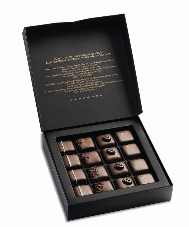 Valrhona grands crus dark chocolate ganache gift box 155g by buy valrhona grands crus dark chocolate ganache gift box and other luxury chocolate gifts by valrhona online for uk gift delivery negle Gallery