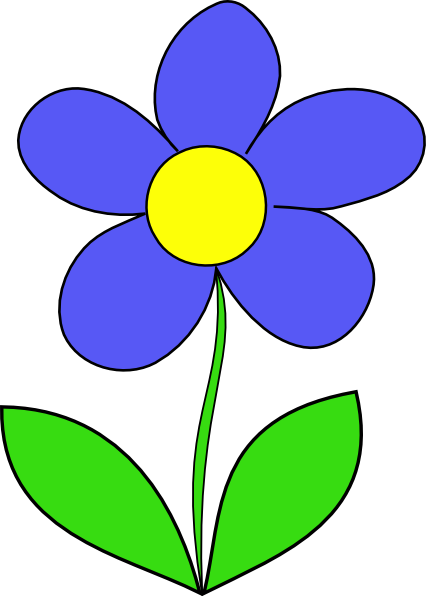 cartoon flowers clip art simple flower clip art vector