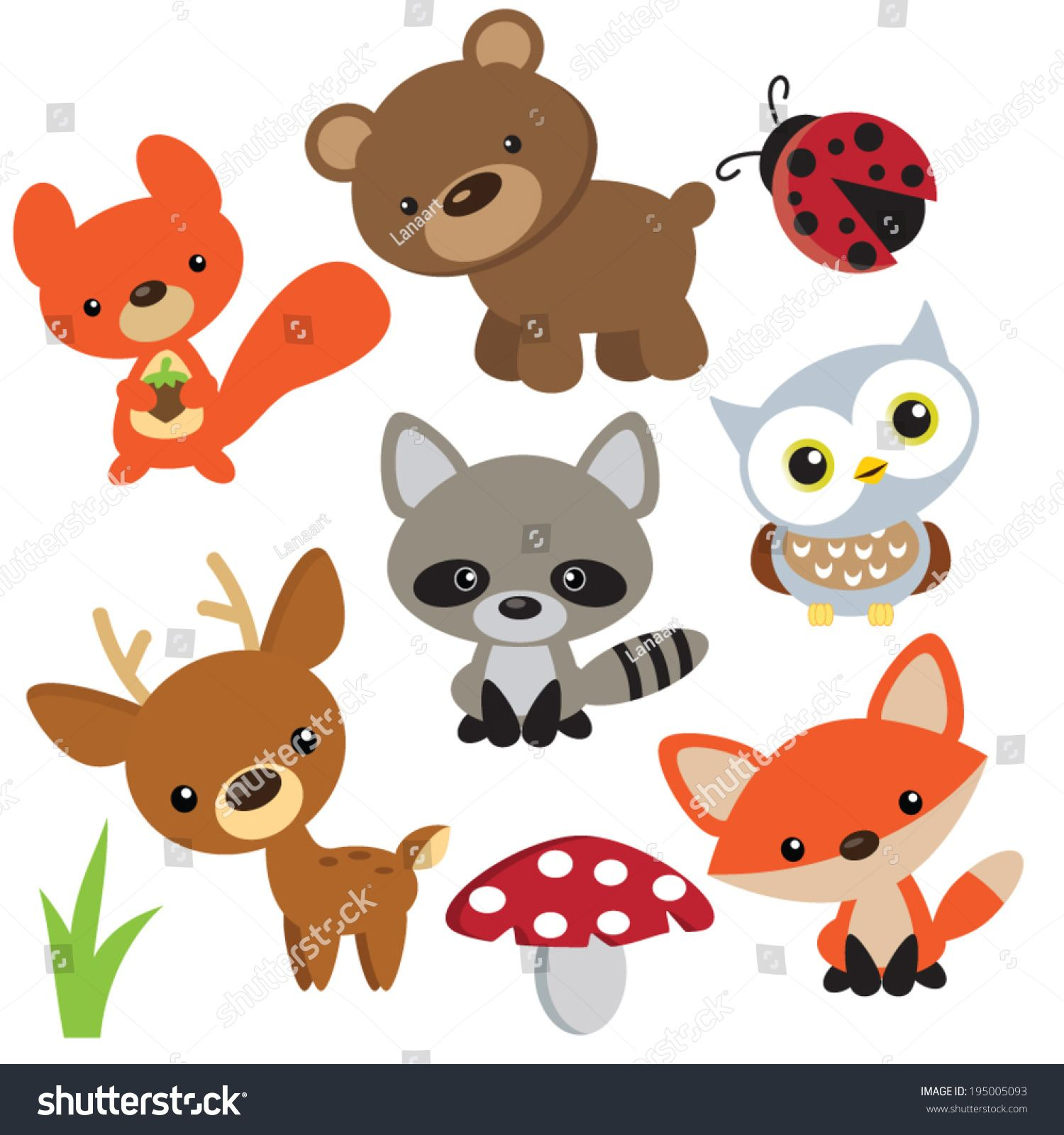 Image Shutterstock Com Z Stock Vector Forest Animals Vector