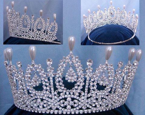 The Duchess of Andalucia Rhinestone Queen Princess Bridal Crown Tiara #crowntiara