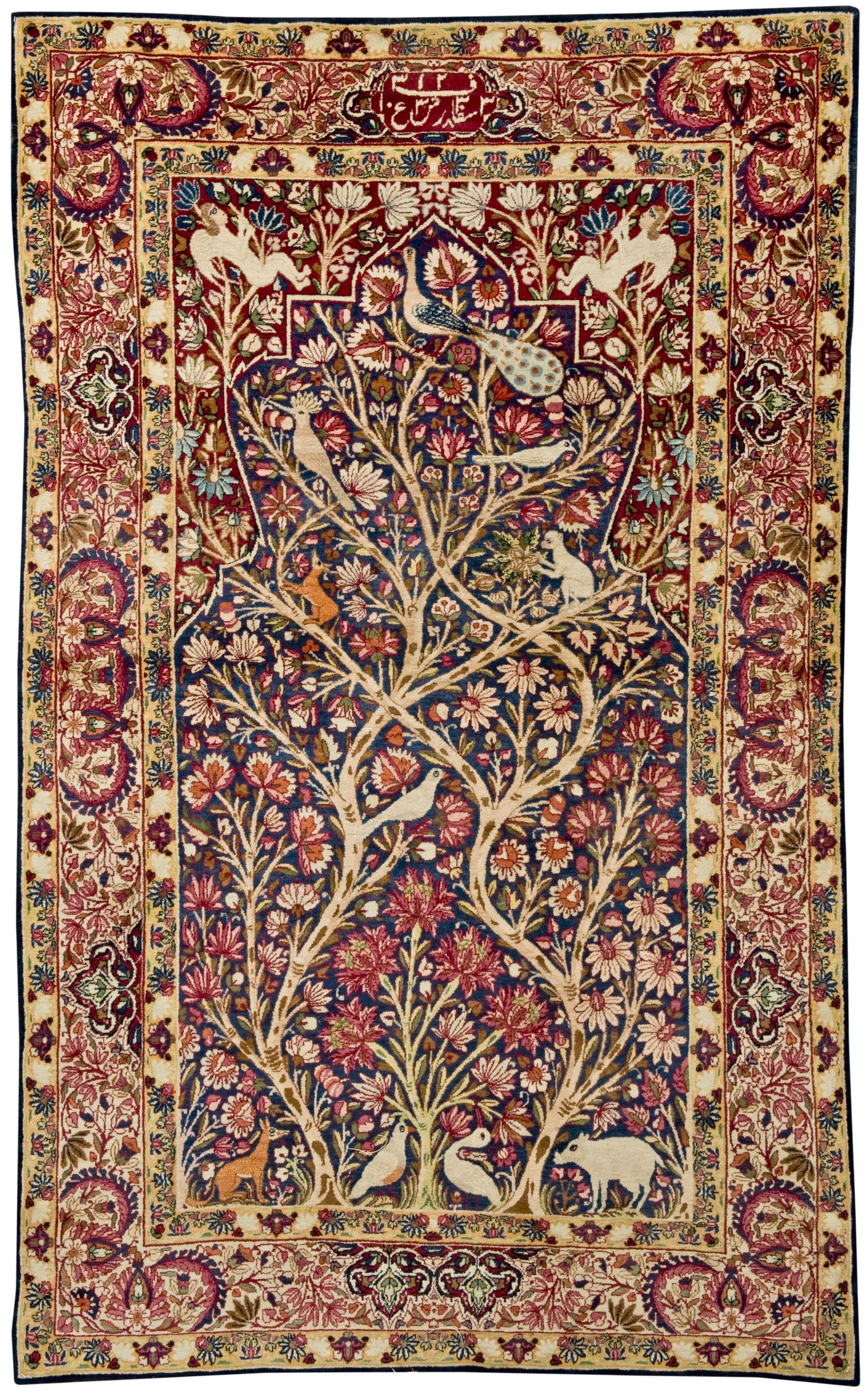 Persian Kerman Laver rug