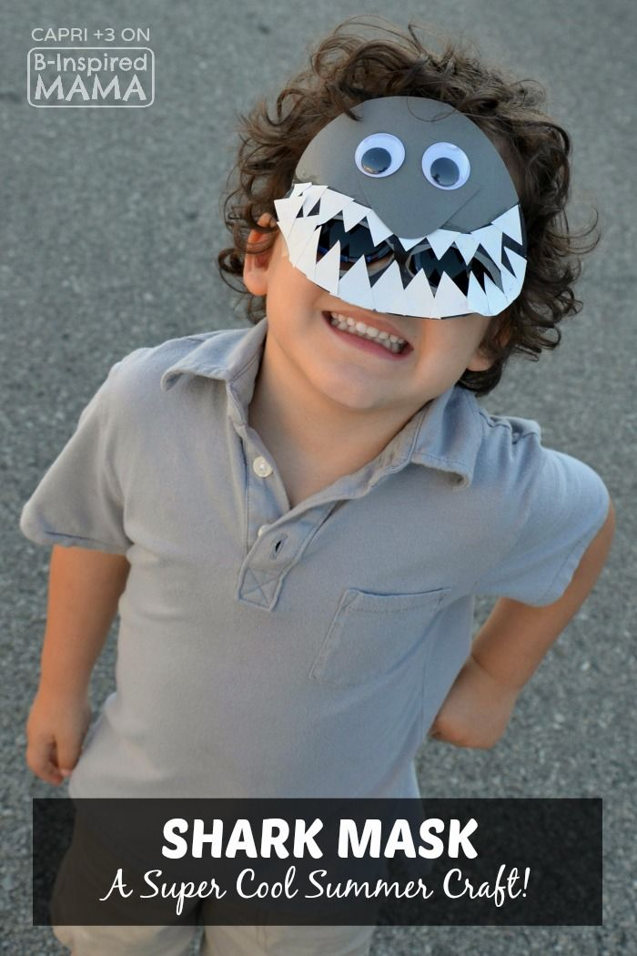 Super Cool Shark Mask Craft For Kids Perfect For Summer