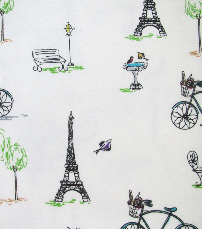 Snuggle Flannel Fabric Paris Sketch