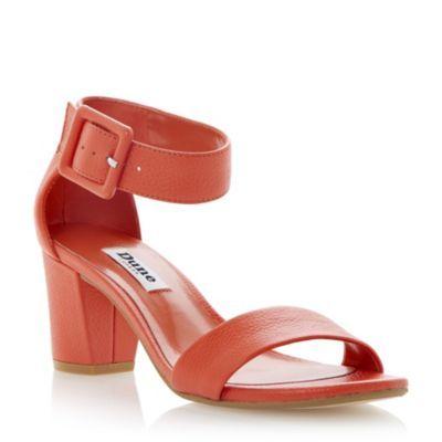 DUNE LADIES Bright FRI - Buckled Ankle Strap Block Heel Sandal | Dune Shoes Online