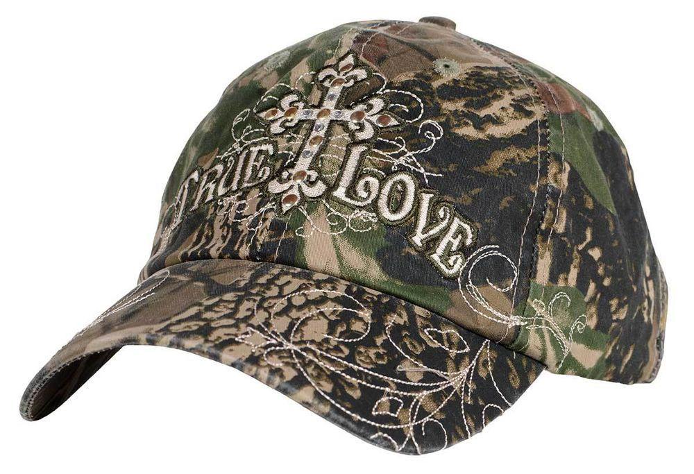 True Love Camo Cross Kerusso Christian Women's Green Brown