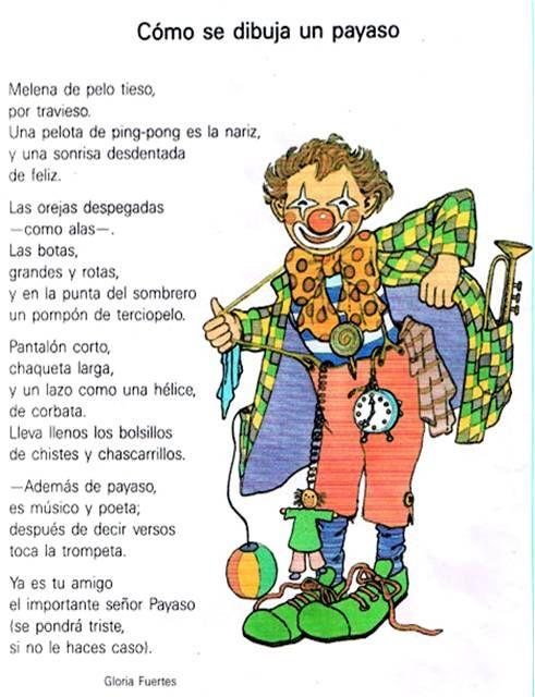 Poema Gloria Fuertes Cc3b3mo Se Dibuja Un Payaso Como Se Dibuja