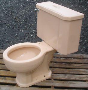 Vintage 1960 Peach Salmon Kohler Toilet Complete Kohler Toilet Vintage Plumbing Fixtures Toilet