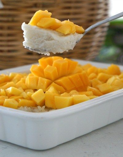 Thai Sticky Rice with Mango -The Easy Way! - Sparkles in the Everyday!