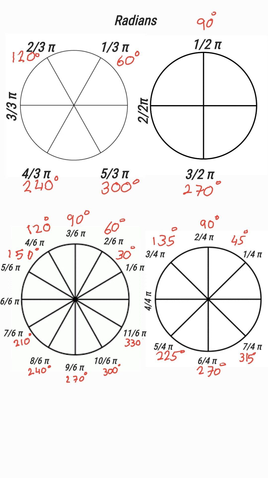 Radian 3 Pie Chart Math Chart