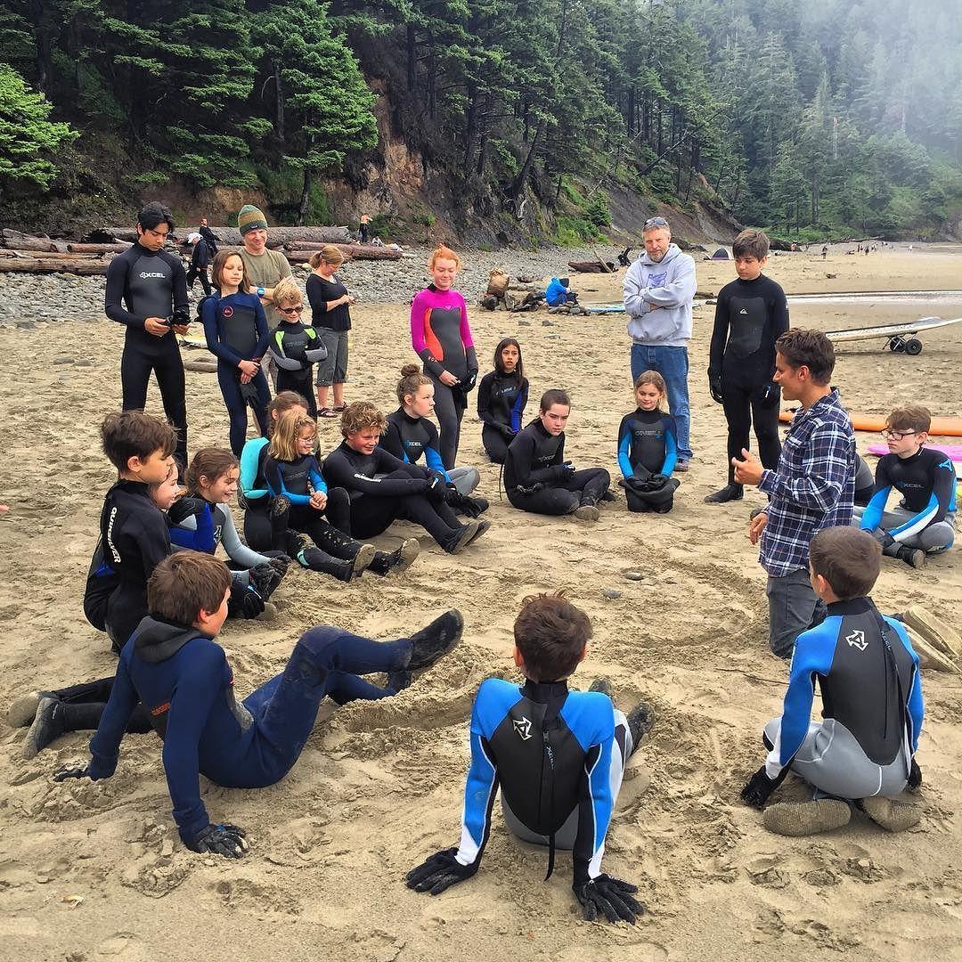 @oregonsurfadventure  mentoring the future Oregon surf Avengers #usoutdoor #oregoncoast