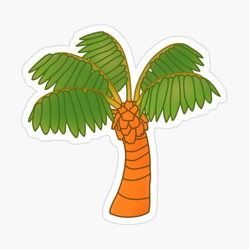 'Palm Tree Animal Crossing' Sticker by Trendy Trends in
