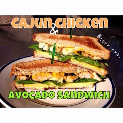 Ripped Recipes - Cajun Chicken Avocado Sandwich  - A delicious sandwich that can be served hot or cold!