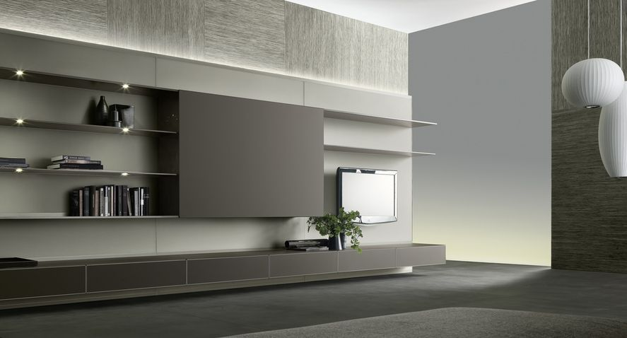 ABACUS LIVING - Designer Wall storage systems from Rimadesio ? all information ? high-resolution images ? CADs ? catalogues ? contact. & composition with mat lacquered lino back panel shelves in mat ... pezcame.com