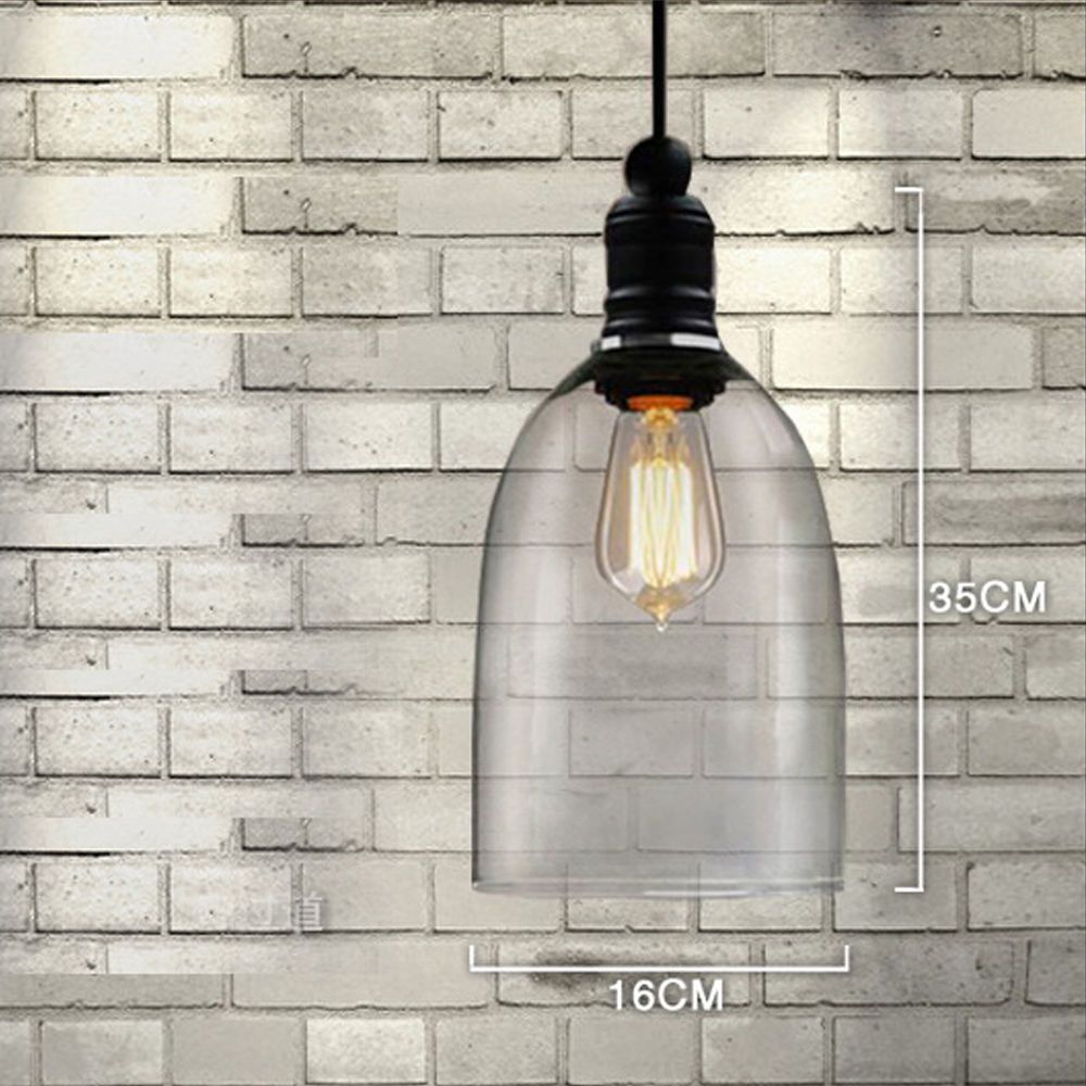 Vintage transparent pendant lamps glass bell shape pendant lights sanyi science and tochnologyregnew antique vintage modern industrial glass loft pendant lamp retro ceiling light vintage lamp shade glass crystal dailygadgetfo Choice Image