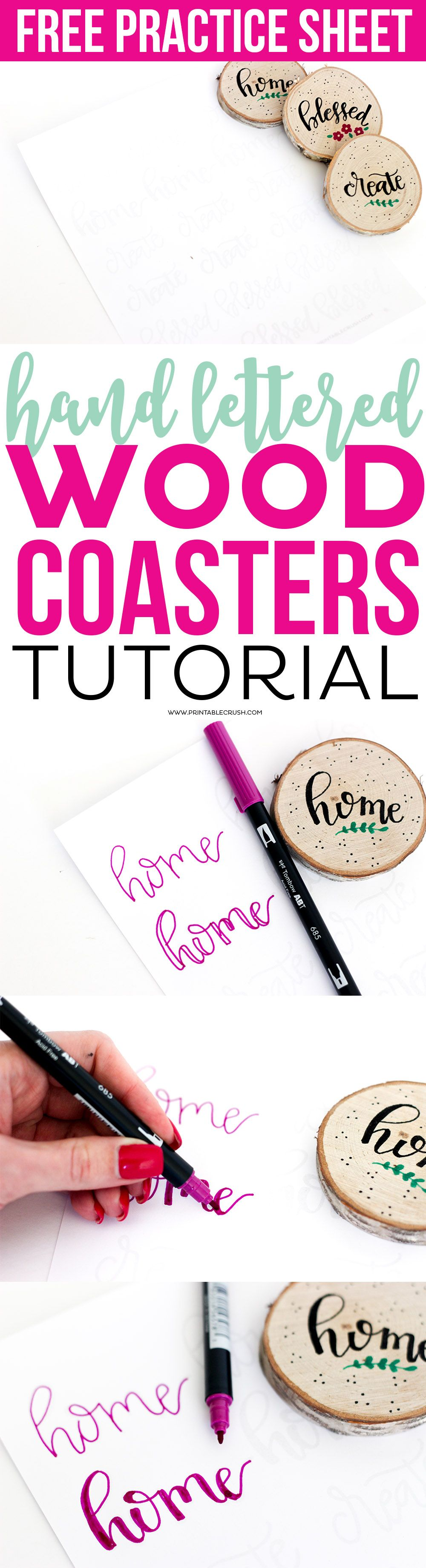 Creating these hand lettered wood coasters is so easy with this creating these hand lettered wood coasters is so easy with this tutorial includes free hand baditri Images