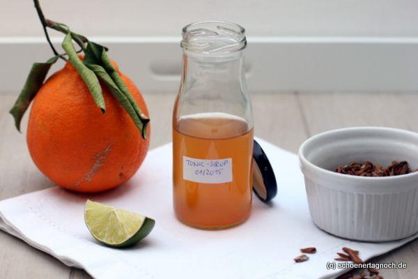 Selbstgemachter Tonic-Sirup, der erste Versuch