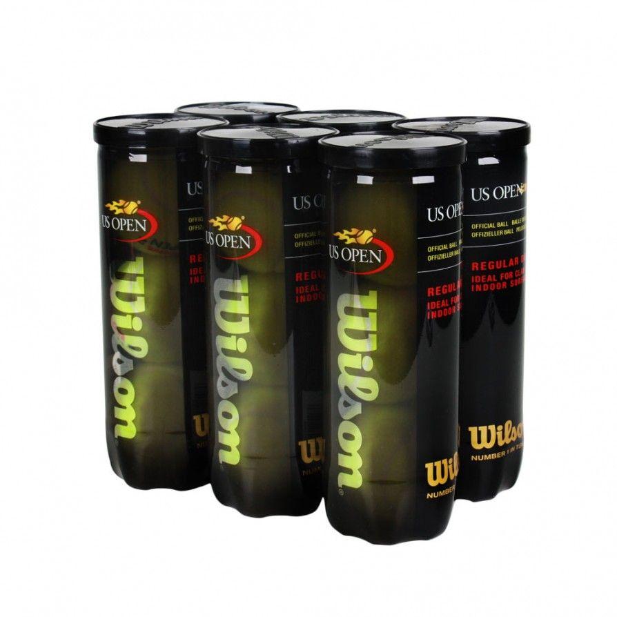 Bola de Tênis Wilson US Open Regular Duty Saibro Pack Com 6 Tubos