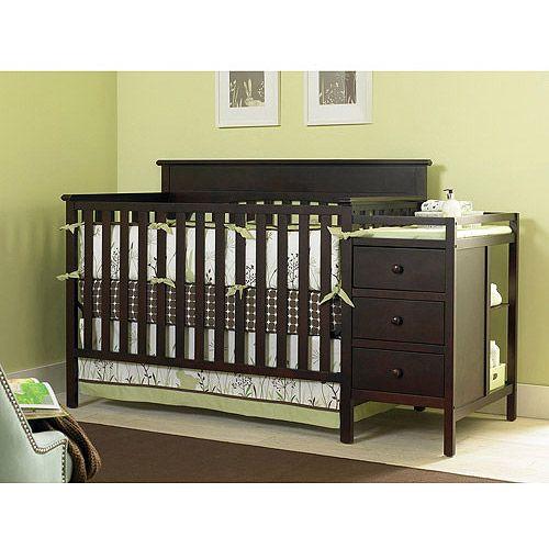 Walmart Graco Lauren 4 In 1 Crib N Changer Espresso Graco Lauren Crib Cribs 4 In 1 Crib