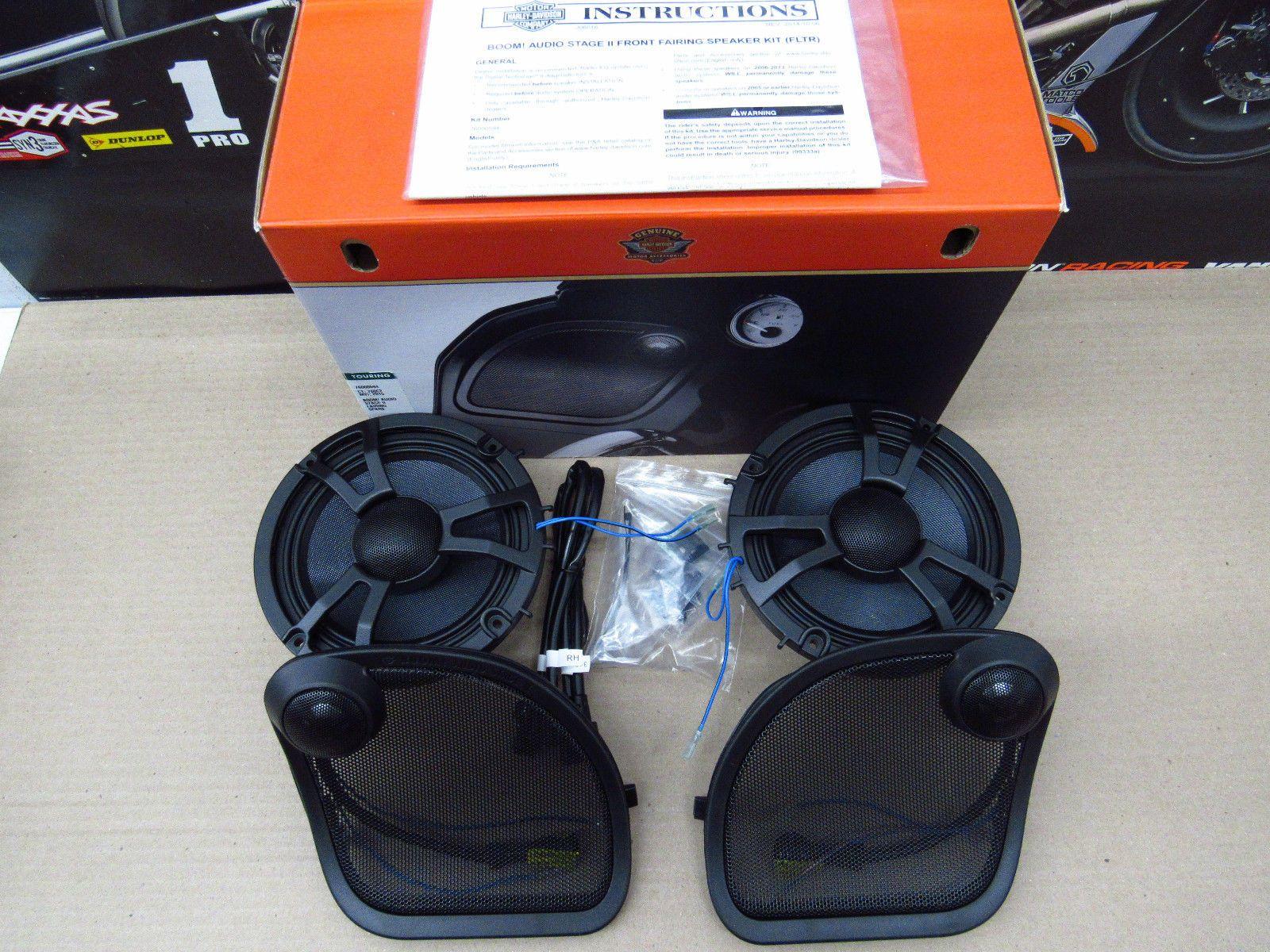 Harley Davidson Boom Audio Stage 2 Fairing Speaker Kit 76000594 Please Retweet