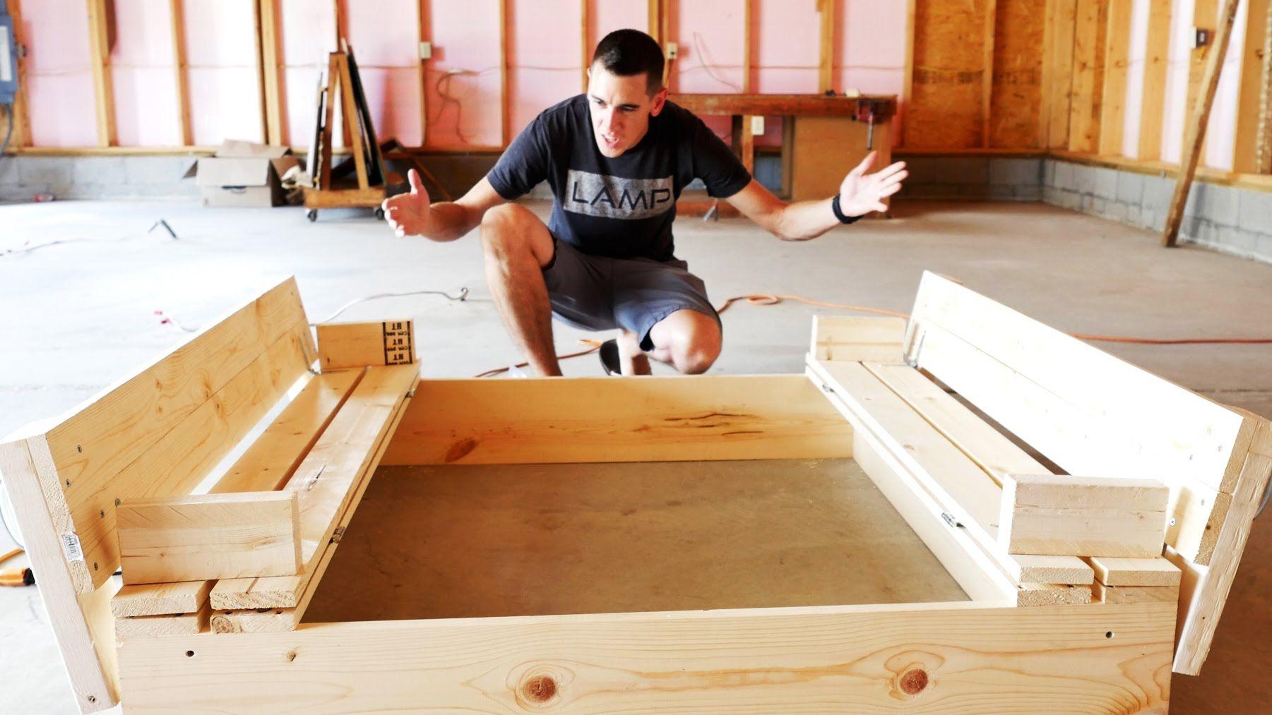 How To Build A Sandbox With Bench Seats Diy Sandbox Ideen