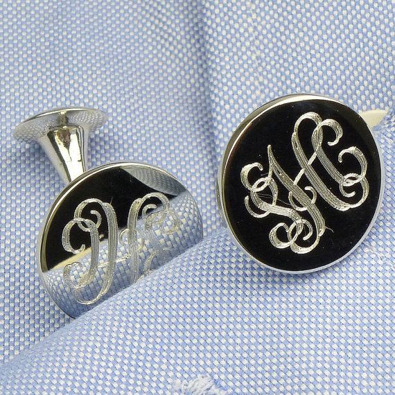 Monogram Cufflinks engraved cufflinks by AshleyMariaMonogram . . . . . der Blog für den Gentleman - www.thegentlemanclub.de/blog
