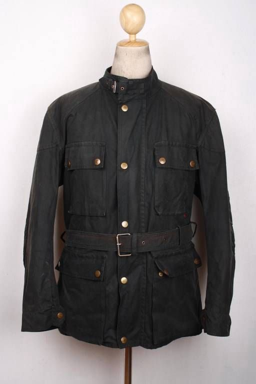 f1bfa9787e BELSTAFF Trialmaster Motorcycle WAXED Jacket Black Large | Belstaff ...