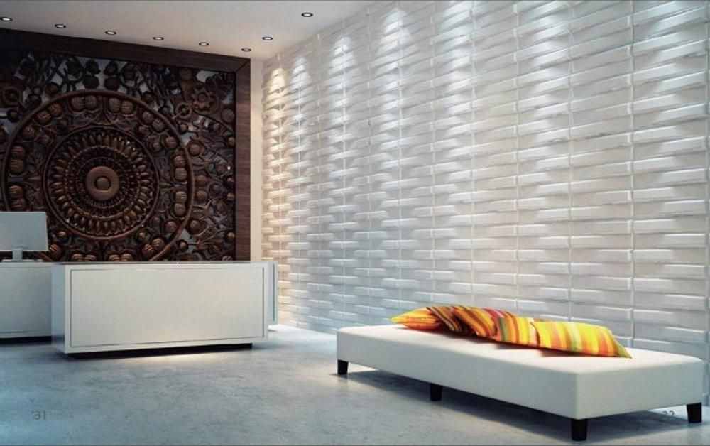 3D Living Room Wallpaper Feature Wall