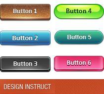 Slick Modern Buttons: PSD