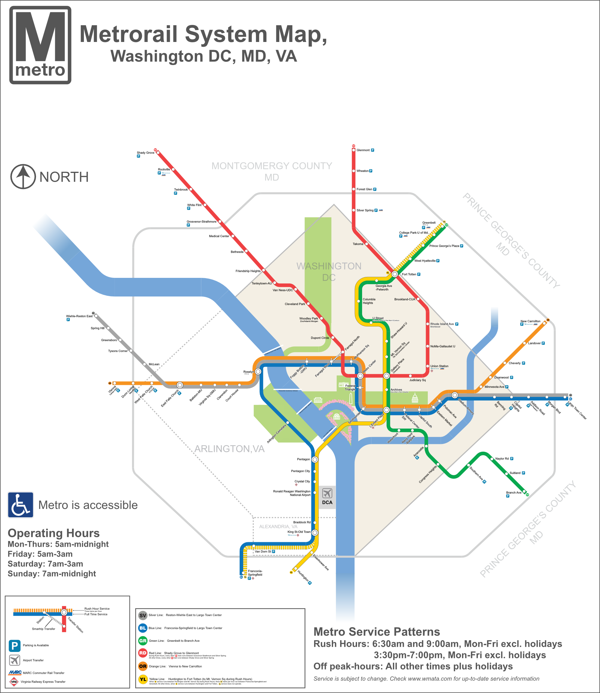 Transit Guide Gives Details For Each Line Dc Va Md Pinterest