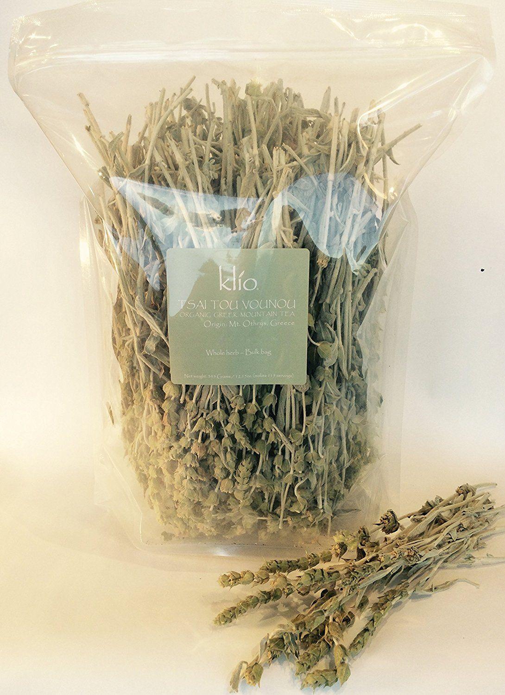 Bulk herbs spices organic organic herbal tea - Greek Mountain Tea 115 Servings Bulk Bag Certified Organic Whole Herb