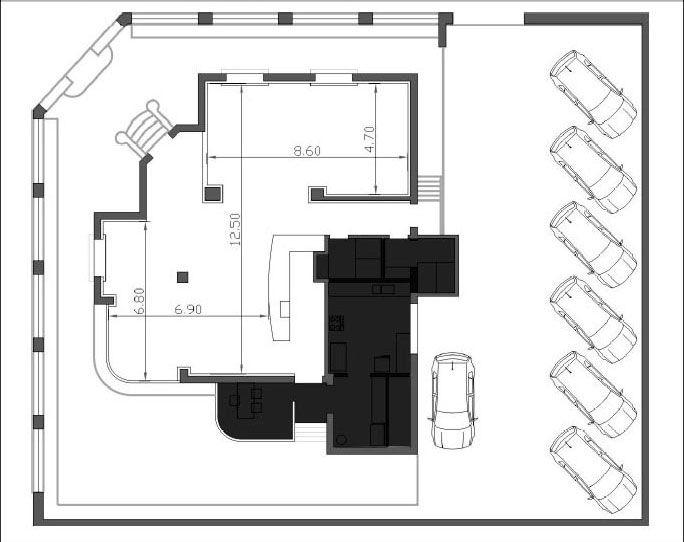 Plano para sal n de fiestas o eventos arquitectura en for Cuanto sale hacer una piscina de cemento