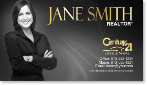 Century Realtor Business Card Century Business Cards - Century 21 business cards template