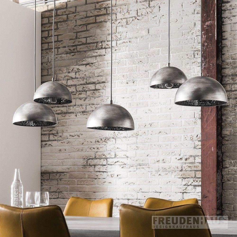 Hangelampe Dottore Cinque Industrial Spiegelmosaik 5 Schirme Spiegelglas Lampen Hangeleuchte