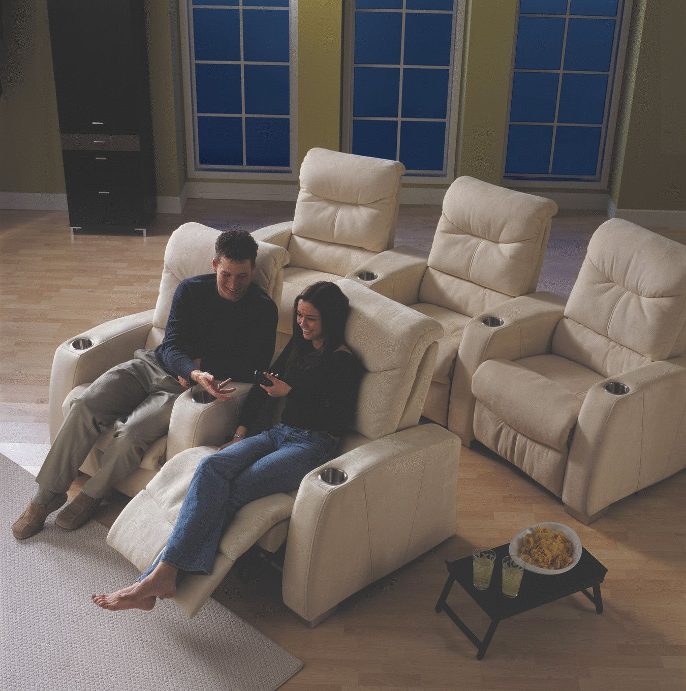 Epych Theater Seats In Soft Microfiber Theatre Room Seating Room Seating Home Theater Seating