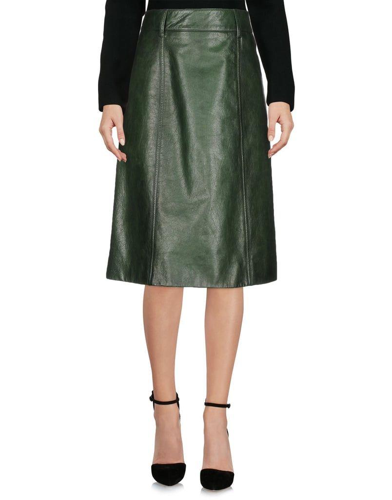 063e21ed49 Green Leather Skirt Hugo Boss